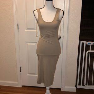 Fashion nova tan dress